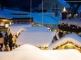 Schneehütten beim Mariazeller Advent am 13. Dezember 2012