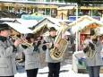 Mariazeller Advent 2012 - Abordnung der Stadtkapelle Mariazell empfängt Adventmarkt Besucher