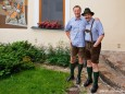 Fred Lindmoser und Johann Lafer in Lederhosen