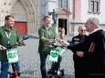 Nur mit Strom nach Rom - Segnung vor der Mariazeller Basilika