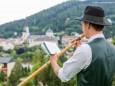 Mariazeller Alphornquartett Konzert beim Erzherzog Johann Denkmal am 28. Juli 2015