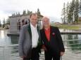 Andy Lee Lang und Bergwelle Organisator Johann Kleinhofer. Foto: Josef Kuss