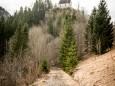 Blick zurück, Sigmundsberg Kirche - Ehemalige Mariazellerbahn-Trasse von Gußwerk nach Mariazell
