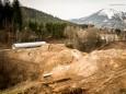 Über diesen Wall wird die Musemstramway nach Mariazell führen wenn der Durchlaß eingraben ist - wird am 20.1.2014 durchgeführt.