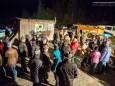 Vorm Eingang in den Stollen - Barbara im Berg - Barbarafeier im Wetterinstollen - Advent 2014