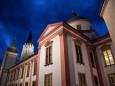 Basilika Mariazell bei Nacht