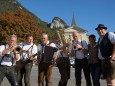 Hannes Reiter (rechts) mit Musikanten beim Bauernmarkt in Gußwerk 2012