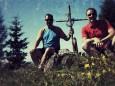 Woif und Fred - Gipfelkreuzfoto Selbstauslöser