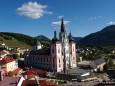 Mariazeller Basilika vom Europeumskran fotografiert. Foto: Fritz Zimmerl