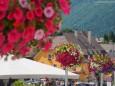 Mariazell Hauptplatz Blumenschmuck 16. Juli 2014