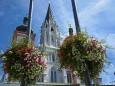 Blumenschmuck in Mariazell am Hauptplatz - 15. August 2012