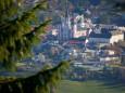 Blick auf Mariazeller Basilika - Herbstwanderung Köckensattel-Fahrnboden-Ochsenboden