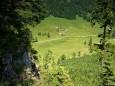 Blick hinunter auf die Höhenreithalm - Fallenstein (1536m) Wanderung