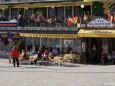 Terrasse und Kaffee Kloepfer am Hauptplatz in Mariazell - 17.3.2012