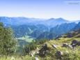 Blick hinunter nach Hinterwildalpen - Gr. Geiger (1723 m) Rundwanderung von Hinterwildalpen