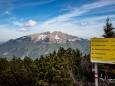 Abzweigung zu anderen Wanderrouten - Gemeindealpe Panoramarundwanderweg am Gipfel