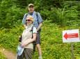 Otmar Hollerer mit Gattin - Wanderbare Gipfelklänge am 7. Juni 2015 - Lackenhof-Riffelsattel-Kleiner Ötscher-Eibenkogel-Fuchswaldhütte Weitental