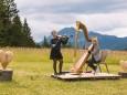 Gipfelklänge 2017: Ensemble 013 überraschte mit einem spontanen Ständchen - Musikerinnen vom Ensemble 013 beim Überraschungs-Ständchen   © Mostviertel Tourismus/Fred Lindmoser