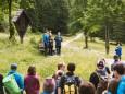 """Gipfelklänge 2017: Dutrio beim Jodeln - """"Dutrio"""" beim Jodeln am Weg © Mostviertel Tourismus/Fred Lindmoser"""