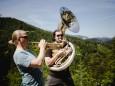 Morgenbläser Duo - Tobias Ennemoser & Lorenz Raab. St. Aegyd am Neuwalde ©Mostviertel Tourismus/Fred Lindmoser
