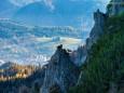 Blick auf Mariazell im letzten Teil vor der Jagdhütte - Großer Zellerhut Tour ab Marienwasserfall am 1. November 2013