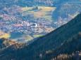 Blick auf Mariazell vom Mittleren Zellerhut - Großer Zellerhut Tour ab Marienwasserfall am 1. November 2013