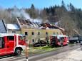 Haus Brand in Rasing