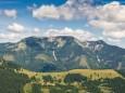 Blick auf den Göller - Wanderung auf die Hinteralm (1450 m) ab Frein