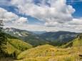 Proles links, Wildalpe rechts und dazwischen Gemeindealpe und Ötscher - Wanderung auf die Hinteralm (1450 m) ab Frein