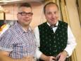 Christian Ofner & Bgm. Josef Kuss - Holzwerkstatt Vernissage - Jahresringe & Lebenskreis