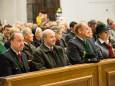 vlnr. Bgm. Josef Kuss, Prof. Günther Granser, Ing. Max Hörmann mit Gattin - Hubertusfeier in der Basilika Mariazell 2013