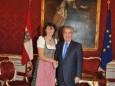 Besuch der Imkerinnen bei Bundespräsident Dr. Heinz Fischer in der Hofburg
