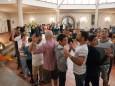 Gemeinsamer Abend im JUFA und interreligiöses Gebet mit Flüchtlingen und Flüchtlingshelfern im Pfarrsaal Mariazell. Mit dabei Christian Konrad, Bgm. Manfred Seebacher, Pater Michael Staberl sowie Organisatorin und Julia Wagner.