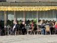 Kaffee im Freien beim Cafe Kloepfer - 16.1.2011