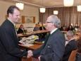 Nino Contini und Oberamtsrat Josef Sommerer
