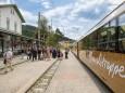 Wieder in Mariazell angekommen - Jungfernfahrt Himmelstreppe Panoramawagen am 27.6.2014