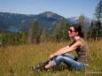 Kurze Rast - Im Hintergrund Erlaufsee, Gemeindealpe, Ötscher