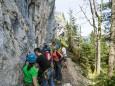 Am Wandfuß - Kletterpark Spielmäuer mit Wanderweg zum Gipfel und zur Teufelsbrücke