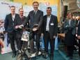 Fred Lindmoser, Johann Kleinhofer, Minister Niki Berlakovich, Wolfram Doberer bei der Klima Aktiv Auszeichnungsverleihung