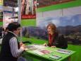 Brigitte Digruber am Mariazeller Land Stand bei der Ferienmesse in Wien 2010