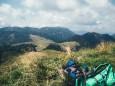 Ausblick am Kl. Königskogel zurück mit Dürriegelalm und Tonion