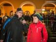 Moderator Roland Widmayer & Maskenschnitzer Christoph Weber - Perchtenlauf der Kogl-Teufeln in Annaberg 2015