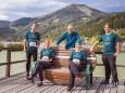 Organisationsteam vlnr: Helmut Schweiger, Ulrike Schweiger, Werner Girrer, Karin Saria-Girrer, Marco Schaffer - krebsforschungslauf-mariazell-erlaufsee-2020-7120