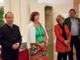 Bgm. Josef Kuss, LAbg. Eva Maria Lipp, Mag. Elisabeth Hansa, Gerhard Lammer -Kunstausstellung im Europeum - Eröffnungstag