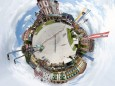 Mariazell Hauptplatz als kleiner Planet