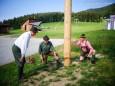 Maibaumumschneiden in St. Sebastian an 11. Juli 2015 mit der Kindervolkstanzgruppe
