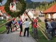 Maibaumaufstellen in Mitterbach