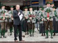 Maibaumaufstellen in Mariazell 2011 - Bürgermeister Josef Kuss begrüßt die Gäste