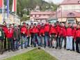 Maibaumaufstellen in Mariazell 2011 - Die Männer der Bergrettung