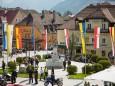 Maibaumaufstellen in Mariazell 2014 mit der Stadtkapelle Mariazell, Bergrettung & Feuerwehr